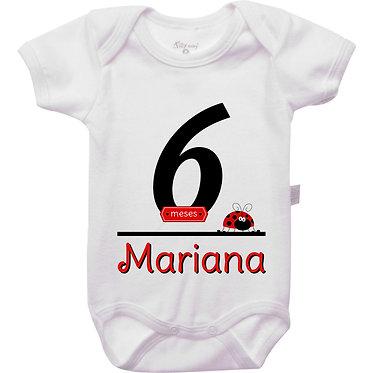 Mêsversário - Joaninha III - 6 meses