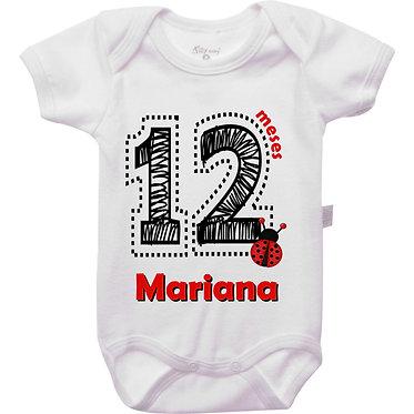 Mêsversário - Joaninha IV - 12 meses