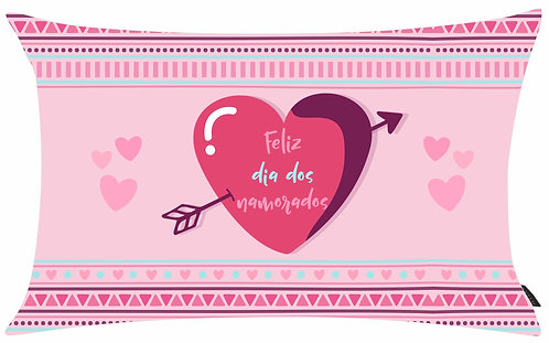 Mini Almofada Dia dos Namorados - Feliz Dia dos Namorados