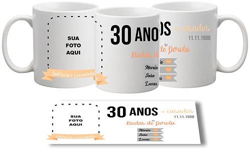 Caneca Aniversário Namoro/Casamento - Modelo 04