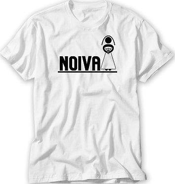 Camiseta Casamento/ Chá Bar - Pictograma - Noiva