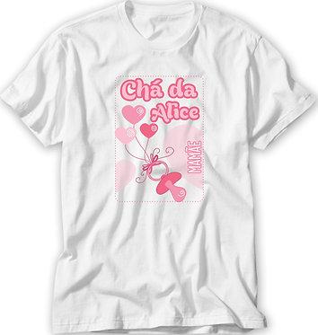 Camiseta Chá de Bebê - Chupeta