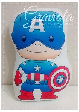 Mini Almofada - Capitão América