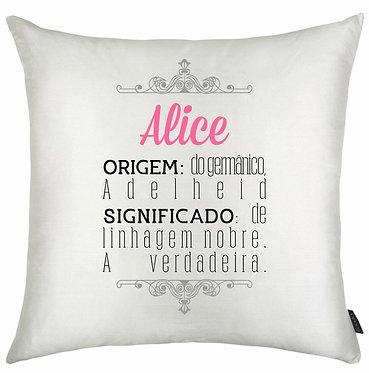 Almofada Significado Nome - Alice