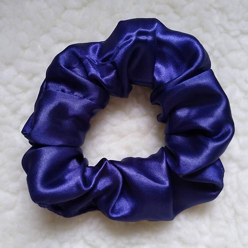 Scrunchie Cetim Liso - Azul Marinho