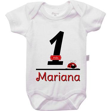 Mêsversário - Joaninha III - 1 mês