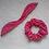 Thumbnail: Scrunchie Orelhinhas - Folhagem Vermelho