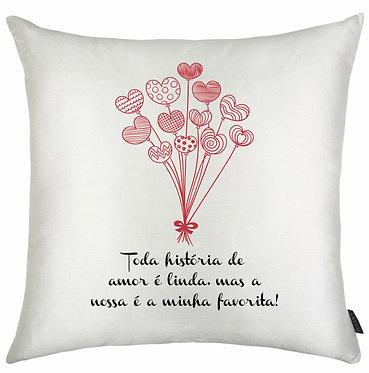 Almofada Dia dos Namorados - Toda história...