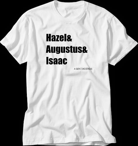 Camiseta A Culpa é das Estrelas Hazel & Augustus & Isaac
