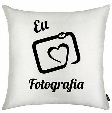 Almofada Eu Amo Fotografia