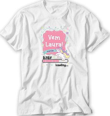 Camiseta Chá de Bebê - Unicórnio