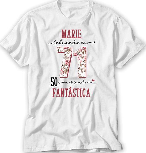 Camiseta Fabricada Em - Floral