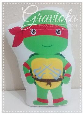 Mini Almofada - Tartarugas Ninjas - Rafael