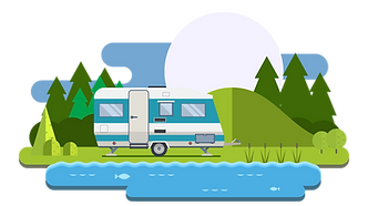 RV, Motorhome, tent campground on shuswap lake, BC
