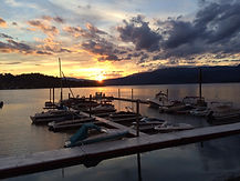 Boat parking and moorage on Shuswap Lake