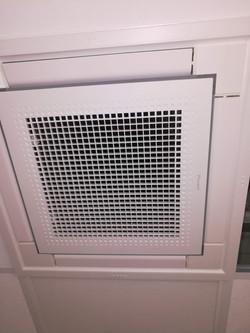 Cassette pour chauffage et climatisation dans plafon de breau 600 x 600