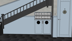 3D of Hallway/Mailboxes