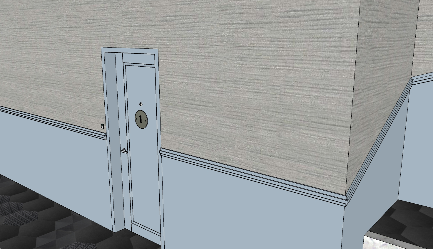 3D of Hallway