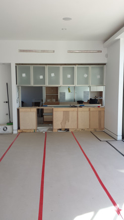Dining/Kitchen During Construction