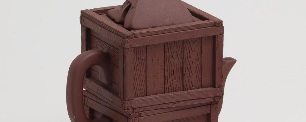 リチャード・ノトキン_Richard Notkin_木箱と骸骨のティーポット00