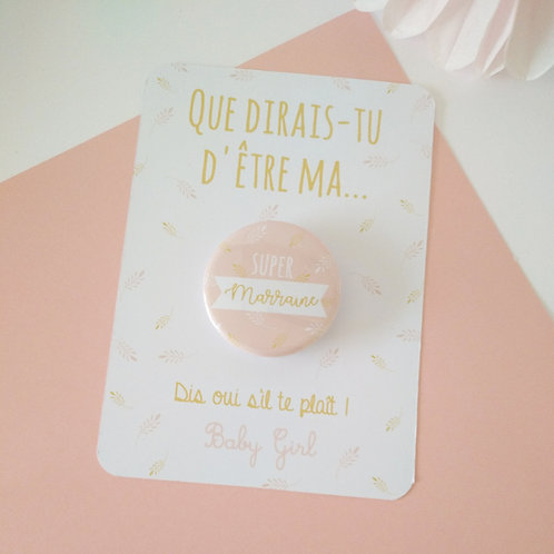 .. Carte et Badge - Marraine ..