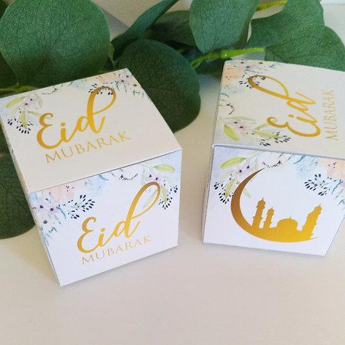 .. Boîte cube - Eid Mubarak ..