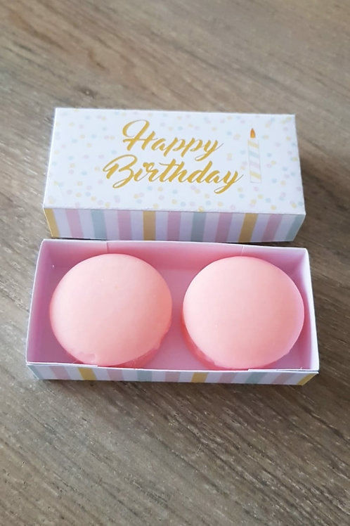 Box Happy birthday (2 macarons)