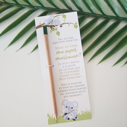 Crayon à planter - Demande Marraine Koala