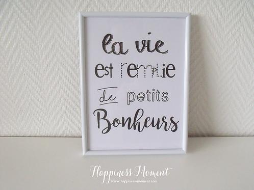 .. Affiche - Petits Bonheurs ..