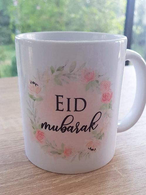 ".. Joli mug - ""Eid Muburak"" fleuri .."