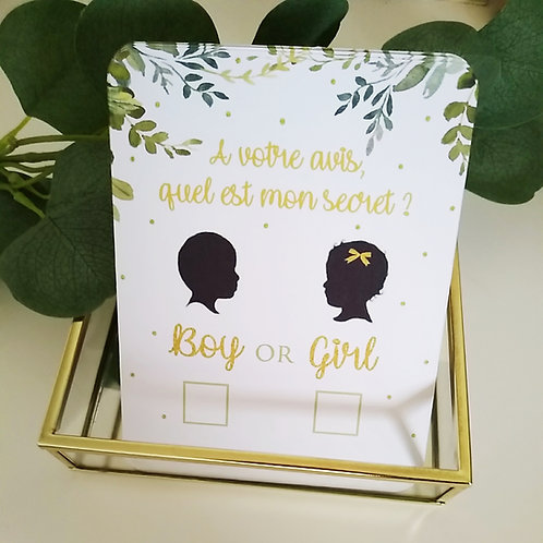 .. Carton Jeu : Boy or Girl? - x10..