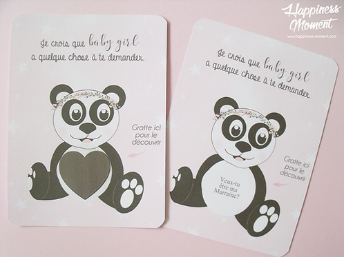 .. Demande Marraine à gratter - Panda ..