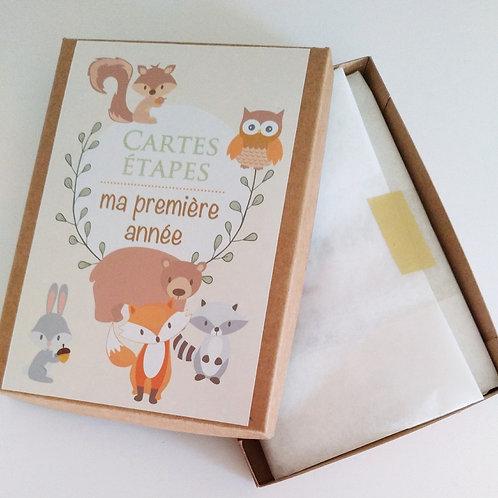 .. Cartes étapes Bébé - Little animals ..