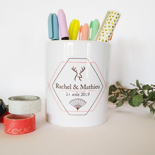 Pot à crayons - Mariage