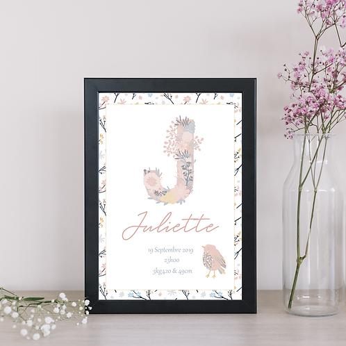 .. Affiche Naissance -Blossom Bird..