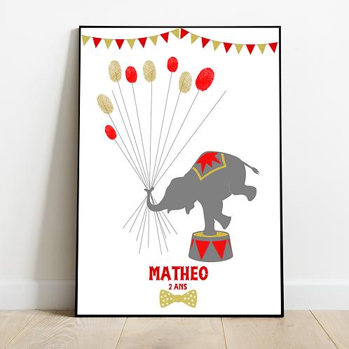 ..Affiche empreintes - Circus..