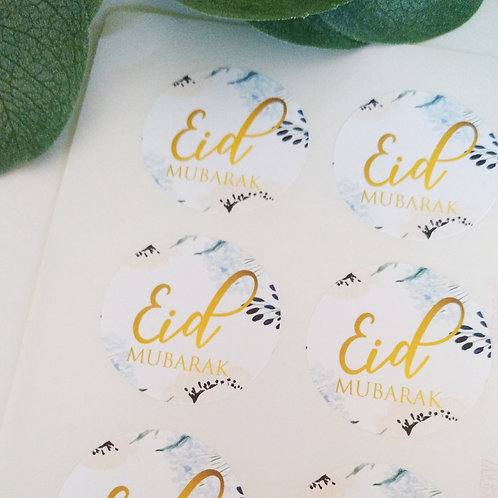 .. Stickers ronds 4 cm x24 - Eid Mubarak ..