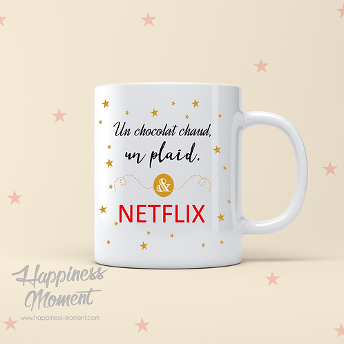 ..Mug - Chocolat chaud & Netflix..
