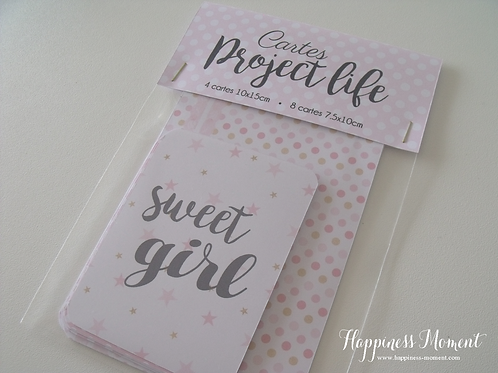 .. Cartes Project Life : Sweet Girl ..