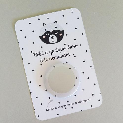 """..Carte Magnet à gratter - """"Sweet scandi"""".."""