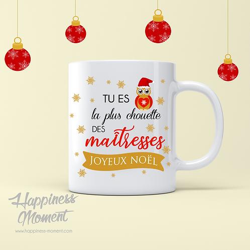 ..Mug spécial Noël - La plus chouette..