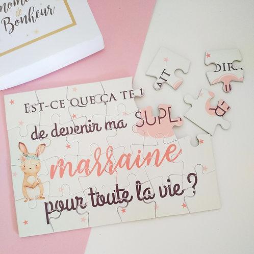 .. Puzzle - Demande Marraine Lapin ..
