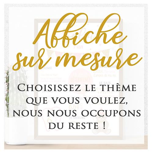 .. Affiche Anniversaire Numérique - Sur mesure..