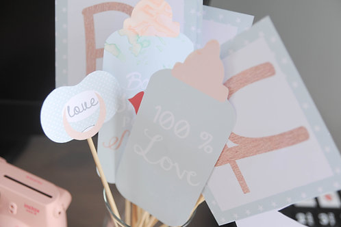 .. Accessoires Photobooth - Baby Shower..