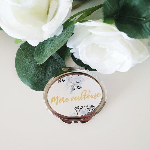 ".. Joli Miroir - ""Mère veilleuse"" fleuri bleu.."