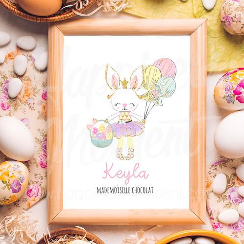 .. Affiche Pâques - Petite lapine..