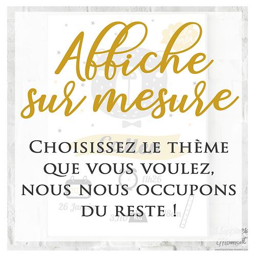 .. Affiche Naissance Numérique - Sur mesure..