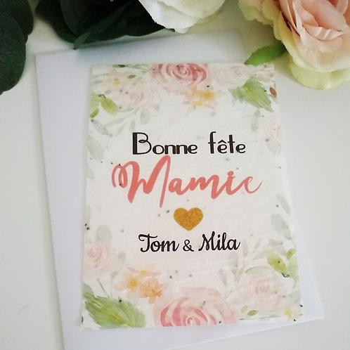 .. Carte à planter - Bonne fête Mamie..