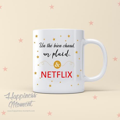 "..Mug - ""Thé chaud & Netflix"".."