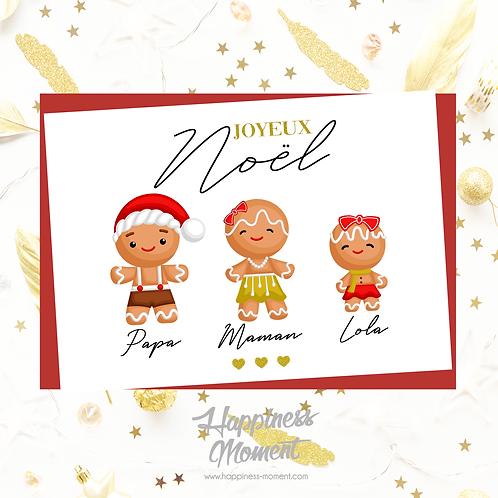 """..Carte """"Christmas Family"""".."""